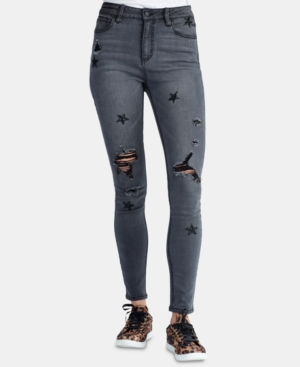 Rachel Rachel Roy  RIPPED STAR-PATCH SKINNY JEANS, CREATED FOR MACY'S