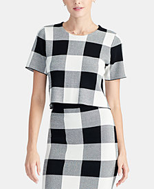 RACHEL Rachel Roy Checkered Sweater, Created for Macy's