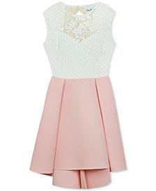 Rare Editions Big Girls Lace High-Low Hem Dress