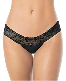Delicate Low Rise Thong In Lace