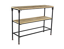 "Farmhouse 31"" x 41"" Iron and Wood Console Table"