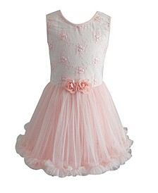 Girl Lace Flower Ruffle Petti Dress