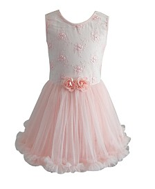 Popatu Girl Lace Flower Ruffle Petti Dress