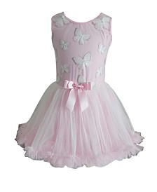 Popatu Little Girl Butterfly Ruffle Petti Dress