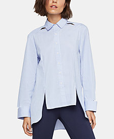 BCBGMAXAZRIA High-Low Collared Shirt