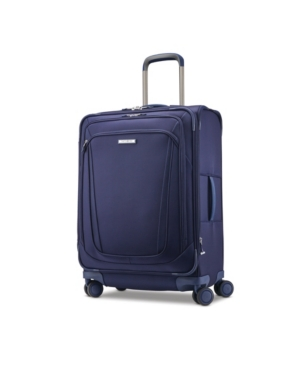 Samsonite Silhouette 16 Softside Expandable Carry-on Spinner Suitcase In Evening Teal