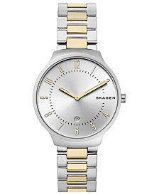 Skagen Men's Grenen Two-Tone Stainless Steel Bracelet Watch 38mm