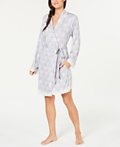 f8ea1d75c2 Charter Club Lace-Trimmed Soft Knit Wrap Robe
