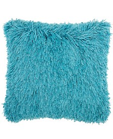 """Studio NYC Collection """"Soft Ribbon Shag"""" Ocean Throw Pillow by Mina Victory"""