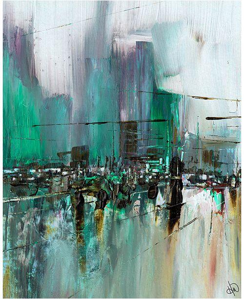 "Creative Gallery Mirroring Street Beta Abstract 24"" x 36"" Acrylic Wall Art Print"