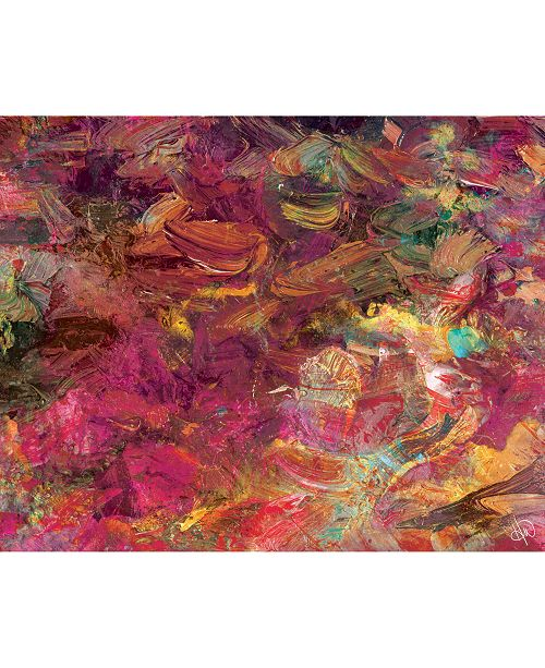 "Creative Gallery Cerise Impasto Abstract 20"" x 24"" Acrylic Wall Art Print"