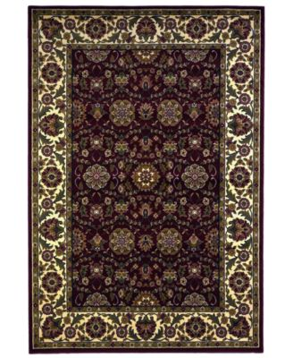 Cambridge Floral Agra 7306 Red/Ivory 2'3