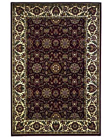 Cambridge Floral Agra 7306 Red/Ivory Area Rug