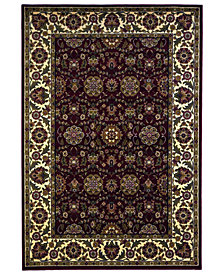 """KAS Cambridge Floral Agra 7306 Red/Ivory 3'3"""" x 4'11"""" Area Rug"""