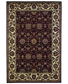 """KAS Cambridge Floral Agra 7306 Red/Ivory 7'7"""" x 10'10"""" Area Rug"""