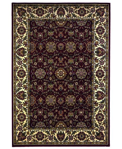 """Kas Cambridge Floral Agra 7306 Red/Ivory 2'3"""" x 3'3"""" Area Rug"""