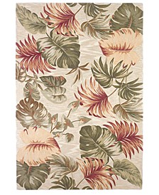 """Sparta Palm Leaves 3148 Beige 7'9"""" x 9'6"""" Area Rug"""