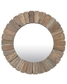 "East At Main's Sali Teak Mirror 31"" x 31"" x 1.5"""