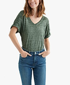 Seamed Burnout T-Shirt