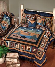 Midnight Bear Cotton Quilt Collection, Queen