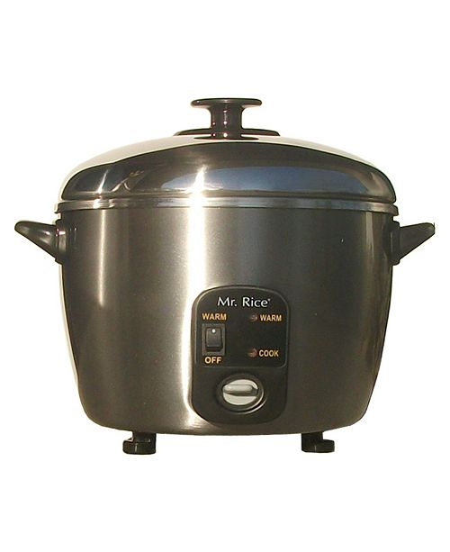 SPT Appliance Inc. SPT 3-Cups Stainless Steel Rice Cooker/Steamer