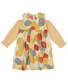 Masala Baby Girls Organic Cotton Layla Dress Pointe Metallic