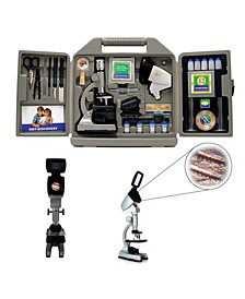 Cassini 67Piece 1200X Microscope Kit, Group Viewing Projection Hood and Case