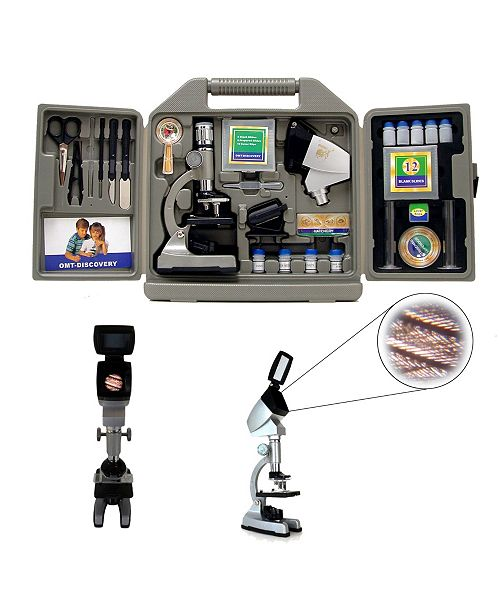 Cosmo Brands Cassini 67Piece 1200X Microscope Kit, Group Viewing Projection Hood and Case