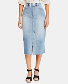 Free People Wilshire Jean Skirt