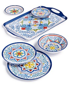 Capri Isle Pattern Melamine Dinnerware & Serveware Collection