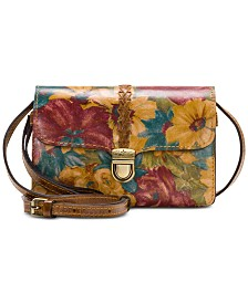 Patricia Nash Printed Bianco Braided Leather Crossbody