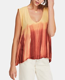 Free People Paradise Ombré Tie-Dyed Top