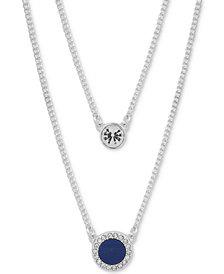 "DKNY Crystal & Stone Double-Row 16"" Necklace"