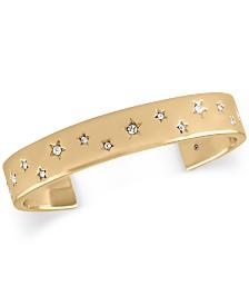 RACHEL Rachel Roy Gold-Tone Pavé Stars Cuff Bracelet