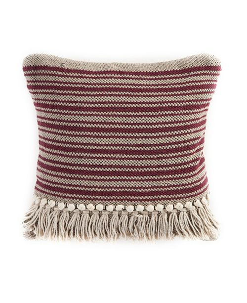 LR Home Striped Fringe Throw Pillow