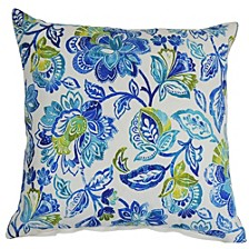 Floral Damask Indoor-Outdoor Pillow
