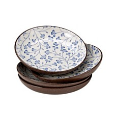 Over and Back Blossom Low Bowls - Set Of 4