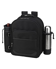 Deluxe 2 Person Picnic, Coffee Backpack Cooler with Wine Pouch