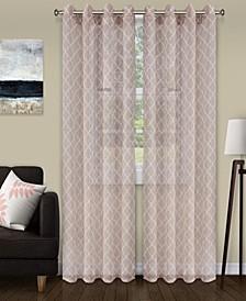 """Lightweight Trellis Sheer Curtain Panels, (2), 52"""" x 63"""""""