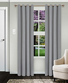 "Solid Textured Blackout Curtain, Set of 2, 52"" x 108"""