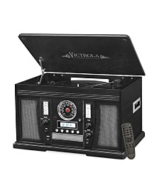 Victrola Wood 7-In-1 Nostalgic Bluetooth Record Player with CD Encoding and 3-Speed Turntable