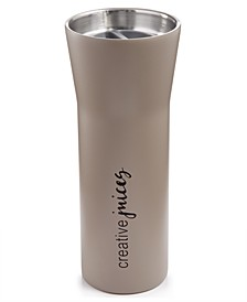 16-oz. Stainless Steel Double-Walled Hot Beverage Gray Tumbler, Created for Macy's