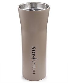The Cellar 16-oz. Stainless Steel Double-Walled Hot Beverage Gray Tumbler, Created for Macy's