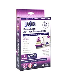 Woolite's 4 Piece Air-Tight Hand Roll Vacuum Storage Bags