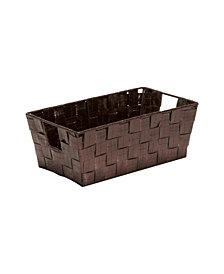 Simplify Small Shelf Storage Bin in Metallic Bronze