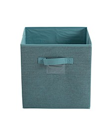 Collapsible Storage Cube in Dusty Blue