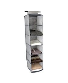 6 Shelf Closet Organizer in Gray