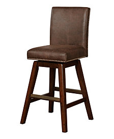 Cedar Wood Swivel Bar Stool