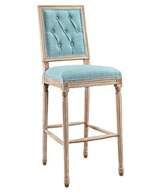 Avalon Tufted Square Back Bar Stool