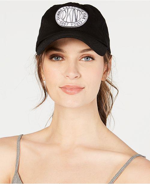 DKNY Embroidered Logo Token Baseball Hat